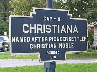 Christiana, Pennsylvania - Image: Christiana, PA Keystone Marker