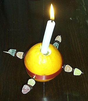 A picture of a christingle, picture taken by m...
