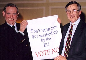 Gerald Howarth - Howarth and Christopher Gill (Conservative MP for Ludlow 1987–2001) demonstrating against the European Union in 2009.