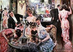 Apple bobbing - Halloween (Howard Chandler Christy), 1915