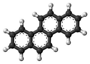 Chrysene - Image: Chrysene molecule ball
