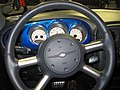 Chrysler PT Cruiser Steering Wheel at 2005 Chicago car show.jpg