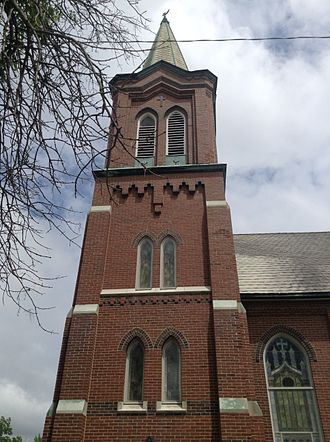 Frankfort, Illinois - Image: Church Tower of Frankfort, Ill