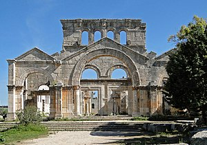 South facade of Church of Saint Simeon Stylite...