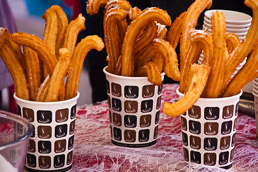 Churros en vasos en Londres - A Taste of Spain