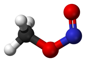 Methyl nitrite - Image: Cis methyl nitrite 3D balls