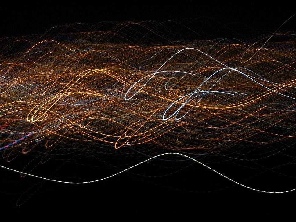 City lights in motion