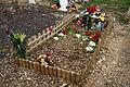 City of London Cemetery and Crematorium - temporary grave decorations 01.jpg