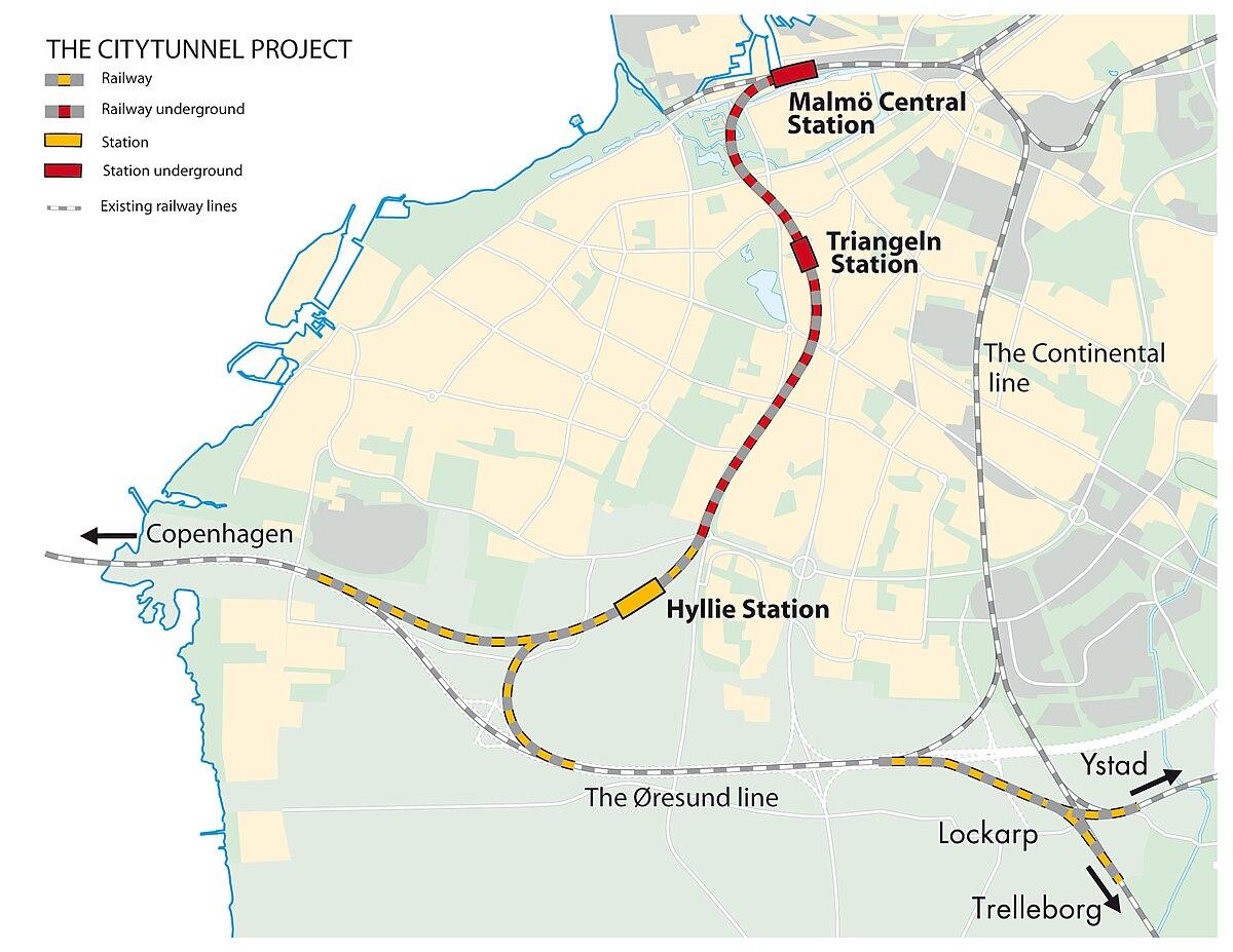 rönneholmsparken malmö karta City Tunnel (Malmö)   Wikipedia rönneholmsparken malmö karta