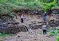 Cleaning of Porkuni regional stage (Upper Ordovician) startotype, Porkuni quarry, 22 July 2017.jpg