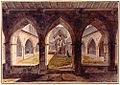 Cloitre Saint-Maurice de Vienne avec au centre le Sepulcre Dessin de Meunier 1789.jpg