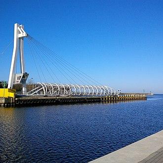 Ustka - Closed pedestrian bridge in Ustka