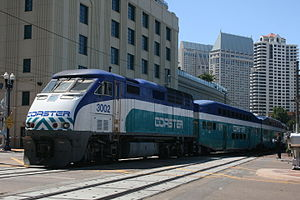 Coaster (commuter rail) - Image: Coaster train San Diego 2013 06 (9411010614)