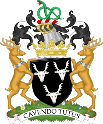 Peregrine Cavendish, 12th Duke of Devonshire - Image: Coat of arms of the duke of Devonshire