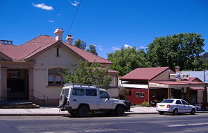 Cobargo, New South Wales - The post office and 'The Train' restaurant