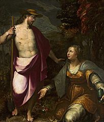 Christ as a gardener and Mary Magdalene