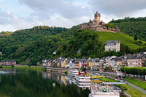 Rhineland-Palatinate - The city of Cochem at the Moselle river