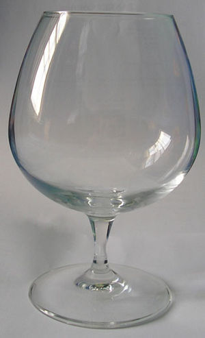 A snifter glass.