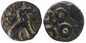 Satakarni - Early coin of Satakarni, Maharashtra - Vidarbha type