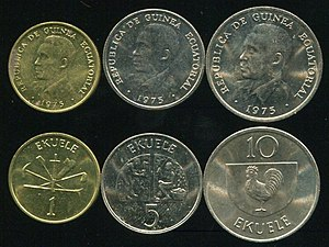 Coins of the Equatorial Guinean Ekwele.jpg
