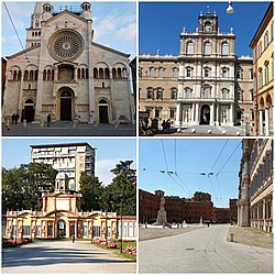 Modena Cathedral, Ducal Palace, Square in front of Ducal Palace, Ducal Gardens