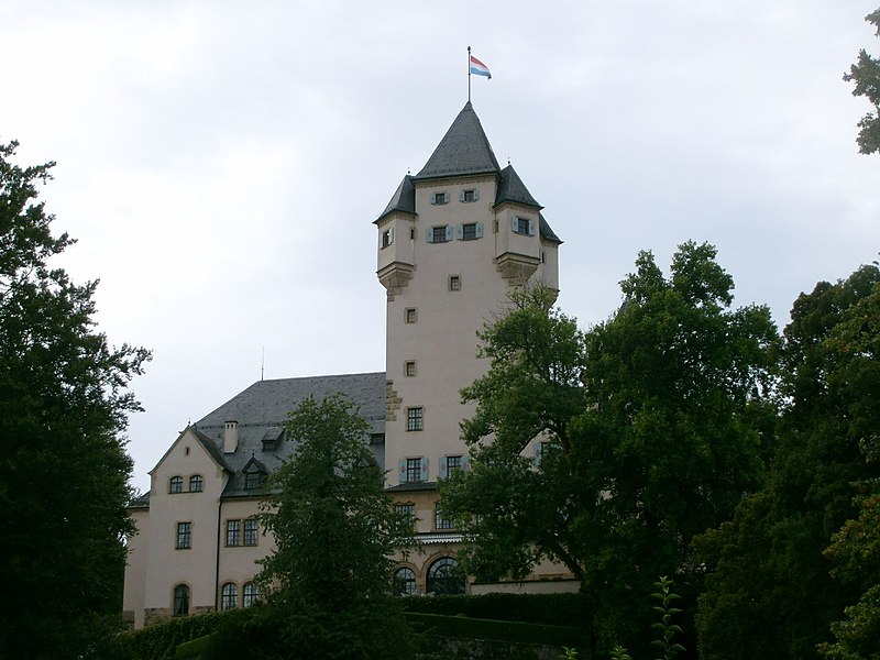 The Grand-Duke's castle in Colmar-Berg, Luxembourg.