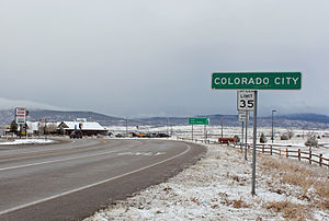 Colorado City, Colorado - Colorado City in late 2014.