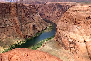 English: The Colorado River near Page, in Ariz...