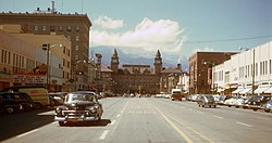 Hi-res Kodachrome of downtown Colorado Springs, 1951.