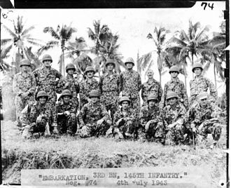 145th Armored Regiment - Commander of 3rd Battalion and company commanders of 145th Infantry prior to invasion of New Georgia Island