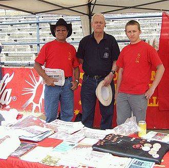 Communist Party of Australia (current) - A Communist Party of Australia stall at Labour Day 2007 in Queensland