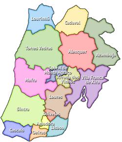 mapa região lisboa Distrito de Lisboa – Wikipédia, a enciclopédia livre mapa região lisboa