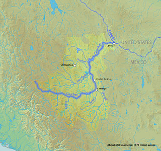 Rio Conchos river in Mexico