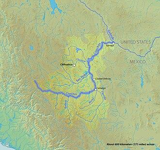 Rio Conchos - Map of the Conchos