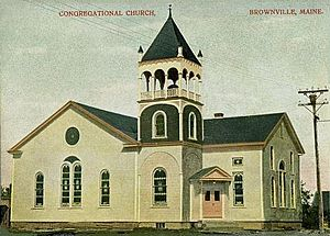 Brownville, Maine - Image: Congregational Church, Brownville, ME