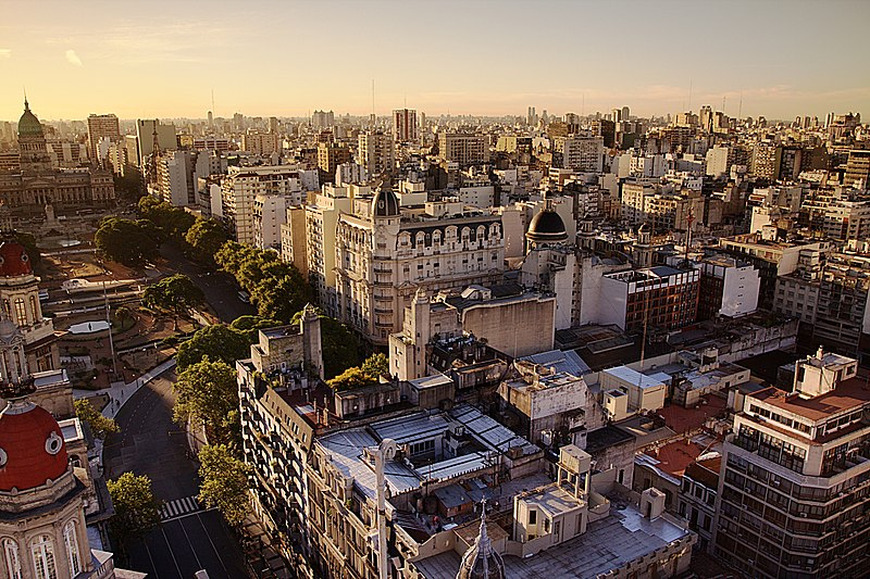 File:Congress Plaza, Buenos Aires at Sunset.jpg