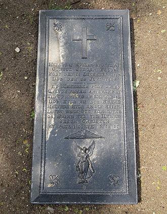 Jørgen Flood - Burial of Jörgen Flood, Solum Church, Skien