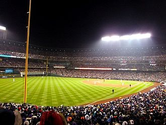 Coors Field - Coors Field sold out at night.