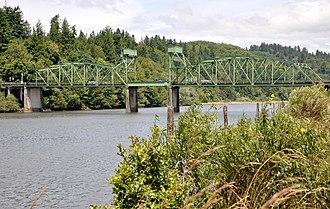 Coos River - Coos River at the Chandler Bridge