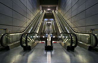 Copenhagen Metro - Escalators at Amagerbro Station