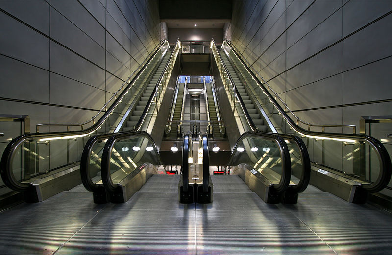 File:Copenhagen Metro escalators.jpg