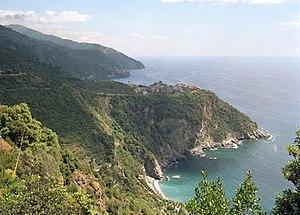 Parco Nazionale delle Cinque Terre - Image: Corniglia costa