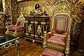Coronation chairs of Queen Adelaide and William IV - State Music Room, Chatsworth House - Derbyshire, England - DSC03205.jpg