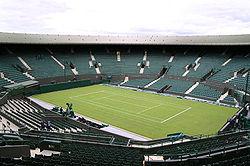 Court en gazon à Wimbledon