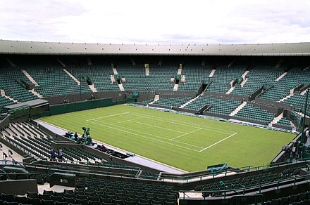 Centre Court at Wimbledon. First played in 1877, the Wimbledon Championships is the oldest tennis tournament in the world. Court 1.jpg