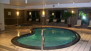Courtyard by Marriott - A courtyard Marriott pool in Albany, New York