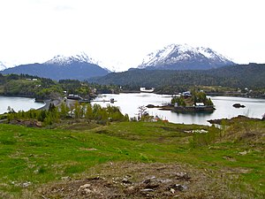 "Halibut Cove, Alaska - The cove seen from atop the ""Arch Trail"""