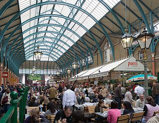 Covent Garden District in London, England