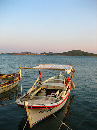Ayvalık - View from a fish restaurant at the port of Cunda Island.