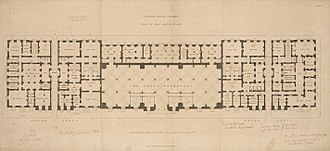 Custom House, City of London - Ground floor plan, 1817